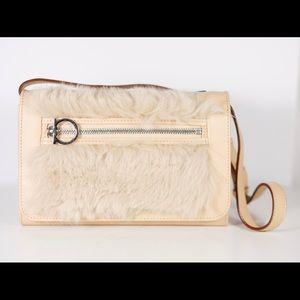 Ferragamo Leather Rabbit Fur Crossbody